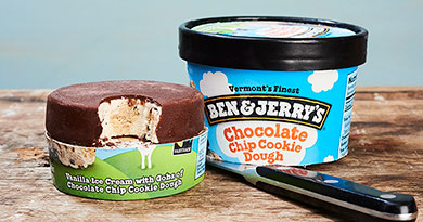 Introducing Ben & Jerry's pint slices.