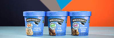Four pints of Ben & Jerry's Moophoria Light Ice Cream