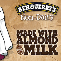 Ben & Jerry's Non-Dairy: Made with Almond Milk!