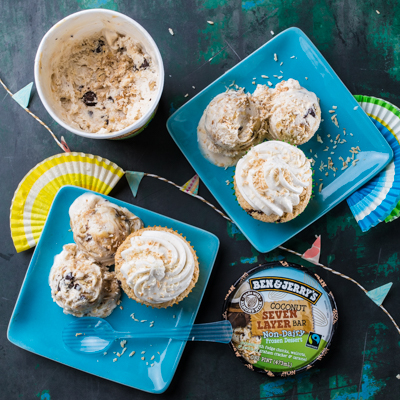 Ben& Jerry's Vegan Seven Layer Bar Cupcakes recipe