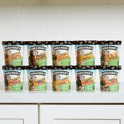 The full lineup of all 10 Ben & Jerry's Non-Dairy flavors